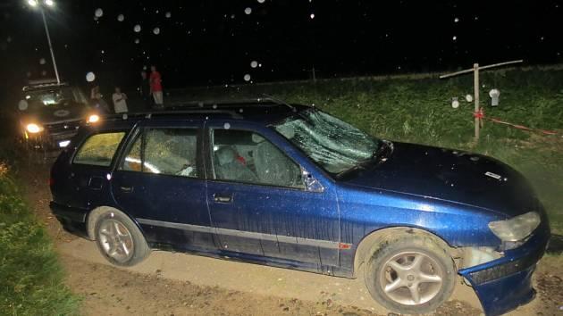 Nehoda peugeotu u Sobotky.