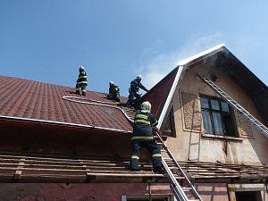 Požár domu ve Vidochově