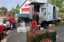 Moštování jablek v Radimi.