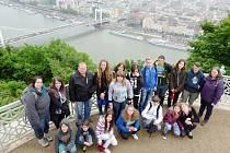 Hořičtí školáci na výměnném pobytu v Maďarsku.
