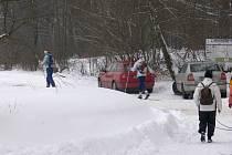 Máchovu stezku vedoucí z Nové Paky hojně využívají lyžaři.