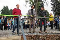 Slavnostní otevření Jírových sadů po rekonstrukci.
