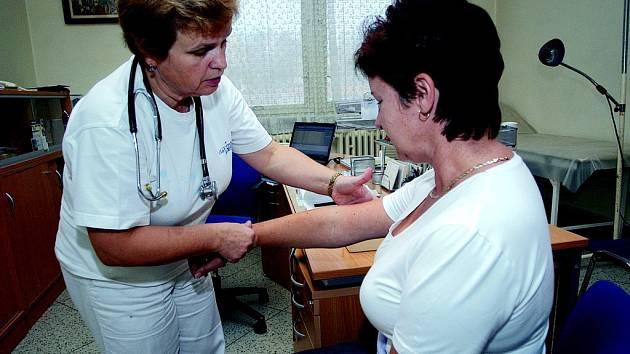 Jičínská praktická lékařka Iva Růžičková ordinuje během dne stávky tak jako každou středu.