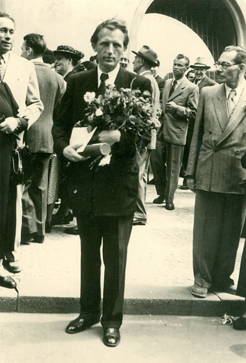 Promoce Jaroslava Wagnera dne 23. června 1950.