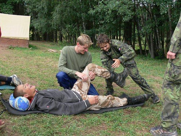 Ze skautského tábora v Přibyslavi.