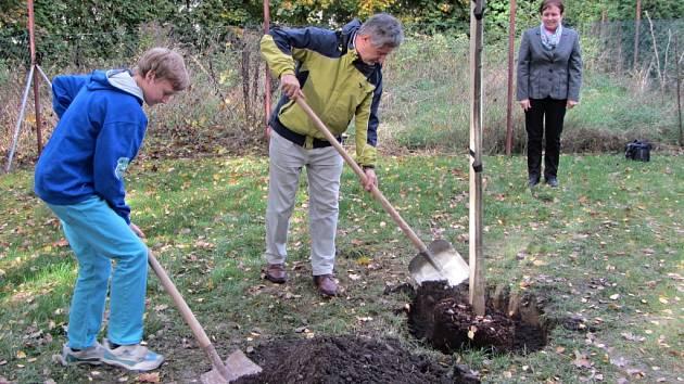 Z otevření soboteckého hřiště a arboreta.