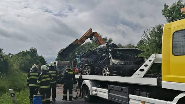 Nehoda u Libuně.