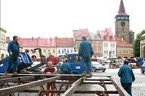 Přípravy na pohádkový festival.
