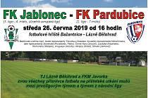 Ligový fotbal v Bělohradě, Jablonec vyzve Pardubice!