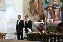 Koncert v kostele v Horním Maršově.