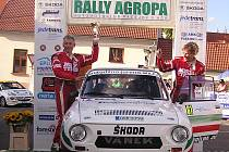 Posádka Štolfa a Hawel předvedla na Rally Agropa velmi dobrý výkon.