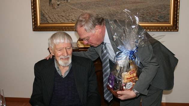Oslava devadesátin historika Vladimíra Úlehly.
