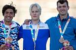 Oštěpař z Jičína Martin Florian (vpravo) dosáhl životního úspěchu, když na olympiádě mládeže v Buenos Aires hodil osobní rekord a vybojoval bronzovou medaili.