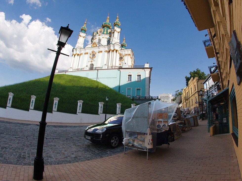 Andrejevský kostel v Kyjevě.