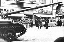 Tank v roce 1968 u jičínské Astry.