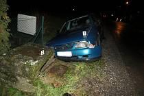 Nehoda opilé řidičky u Butovsi.