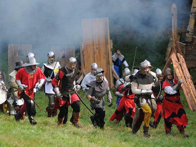 Z gotické bitvy v Radvánovicích.