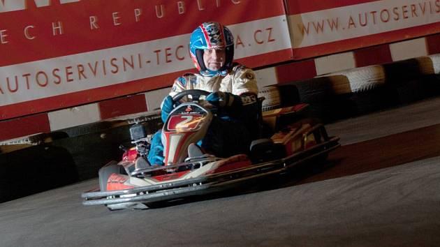 Václav Fejfar se svezl tentokrát na motokáře.