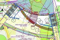 NÁVRH architekta Doubka počítá se šikmým chodníkem, dole pak řešení, které navrhl Josef Fučík.