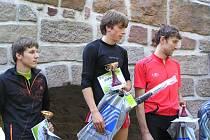 Vítězové Pecka krosu - zleva Ondřej Fejfar, Radoslav Groh a David Štangler.