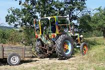 Originální traktor z farmy Stanislava Pence z Milkovic.