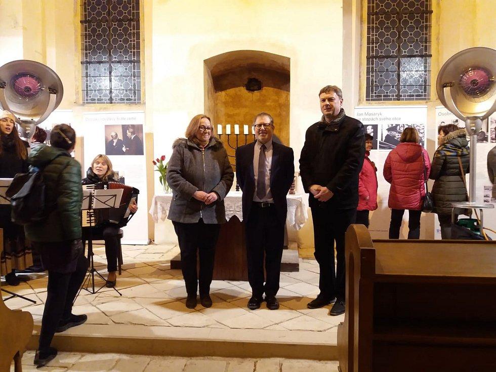 Na vernisáž výstavy přijel i velvyslanec Izraele.
