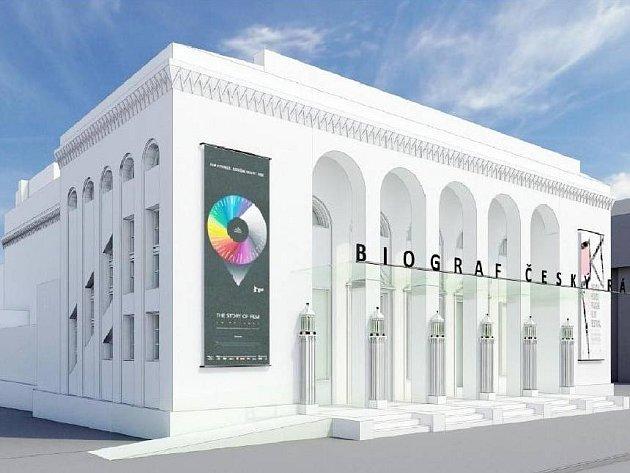 Vizualizace jičínského biografu po rekonstrukci.