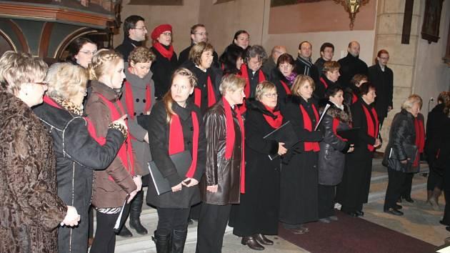 Koncert sboru Foerster v kostele sv. Ignáce.