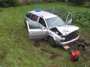 Havárie vozu v Karlově
