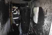 Požár v rodinném domě v Hořicích.