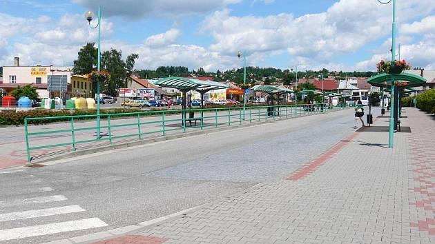 Hořické autobusové nádraží.
