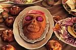 Oslava mexického svátku mrtvých v lodžii.