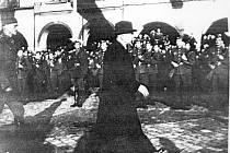 Prezident Edvard Beneš roku 1946 v Jičíně.