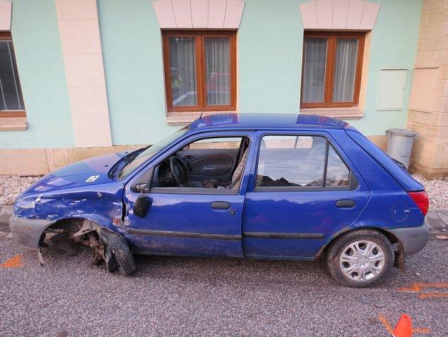 Zmísta nehody vPodhradí.
