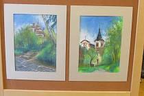 Výstava obrazů z plenéru výtvarníků.