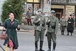 Ze soboteckého natáčení filmu Tenkrát v ráji.