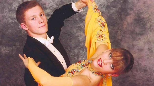 Taneční pár Michal Šolc a Tereza Morávková.