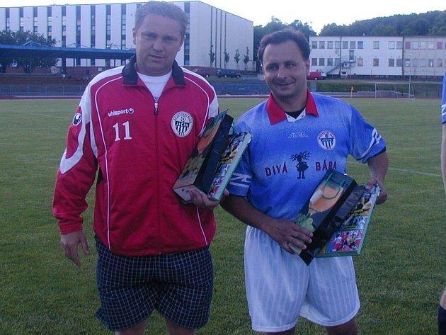 S aktivním fotbalem se v sobotu 16. června rozloučili Tomáš Kocourek (vlevo) a Ladislav Klička.