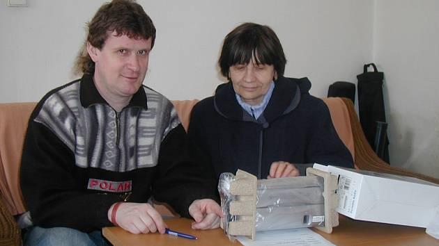Nejlepší dvojice zimní Tip ligy - Roman Voldán z Jičína, druhá jeho matka Hana Voldánová.