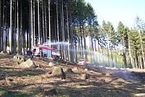Následky vypalování trávy - Suchovršice.