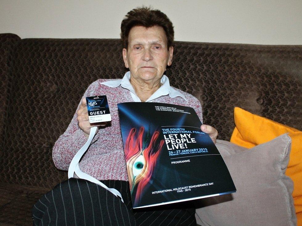 Doris Broulová přežila koncentrační tábory v Terezíně a Osvětimi.