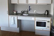 Kuchyňská linka upravená pro vozíčkáře.