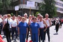 DOBROU NÁLADU měli sokolové  před vystoupením v Trenčíně, domů se vraceli spokojeni.