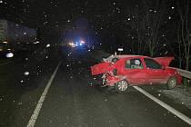 Střet dvou automobilů u Čejkovic.