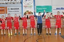 Utkání HBC Ronal Jičín – Handball KP Brno.