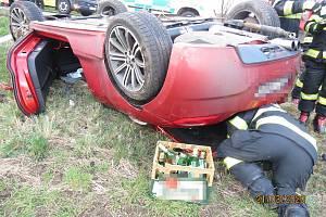 Dopravní nehoda u Popovic