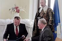 Podpis společného Memoranda Jičína s Martinem.