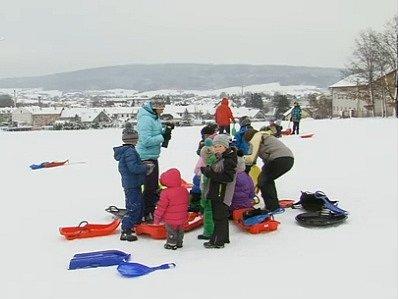 Bělohradské zimní sportování.