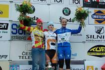 Cyklistky,zleva Vendula Kuntová, Pavla Havlíková a Jana Kyptová.
