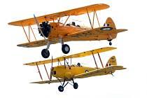 Líně - Letecký den Plzeň letiště Líně Stearman a Tiger Moths